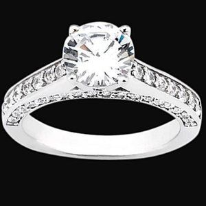 2 carat diamonds ring solitaire with accents jewel